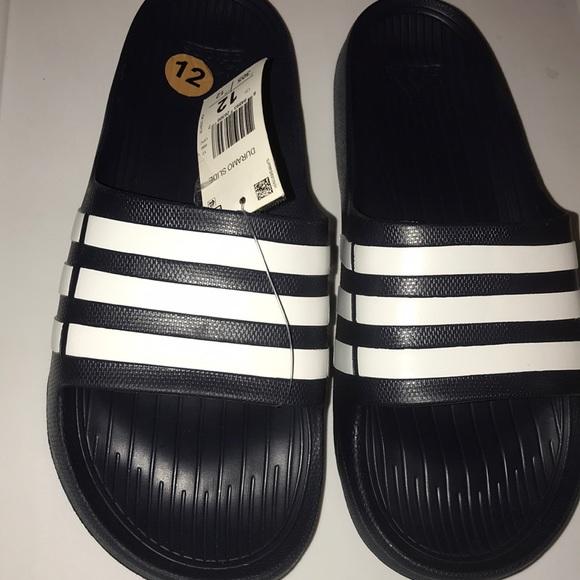 63cbc5daf8f adidas Shoes | Mens Duramo Slides 12 Nwt | Poshmark